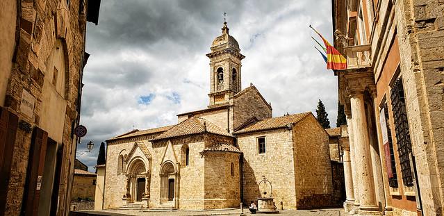 Collegiate Church of San Quirico d'Orcia in San Quirico d'Orcia, Italy