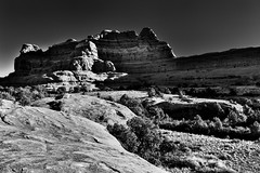 Squaw Butte (Black & White, Canyonlands National Park)