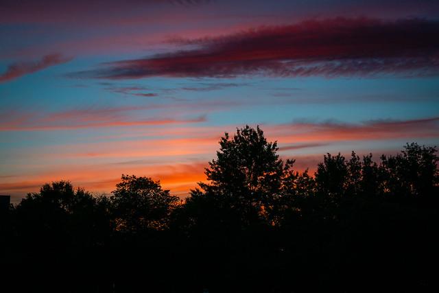 Sunset over Walter Johnson High School