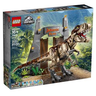 超霸氣恐龍與經典侏羅紀公園大門再現!! LEGO 75936《侏羅紀公園》霸王龍橫衝直撞 T-Rex Rampage