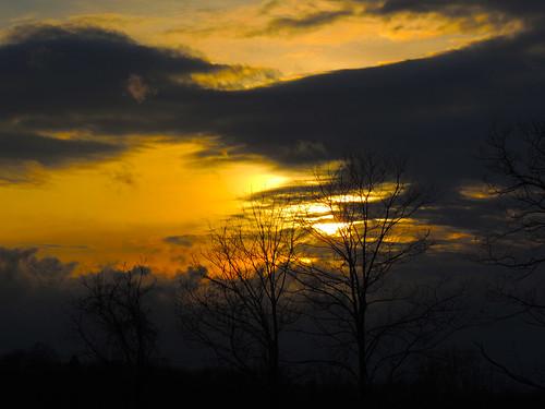 sun sunset clouds sky trees silhouette irwin north huntingdon landscapes orange yellow westmoreland county pa pennsylvania scenic scenery patriotportraits neatroadtrips laurelhighlands