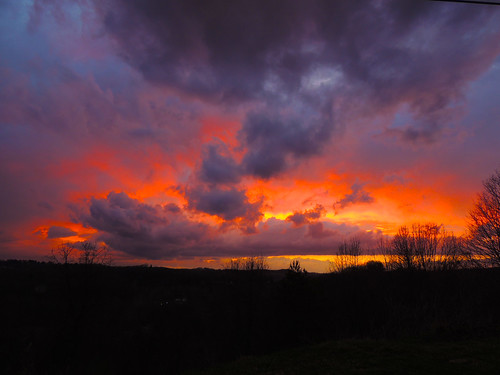 sun sunset clouds sky trees silhouette irwin north huntingdon landscapes fire red orange yellow westmoreland county pa pennsylvania scenic scenery patriotportraits neatroadtrips laurelhighlands