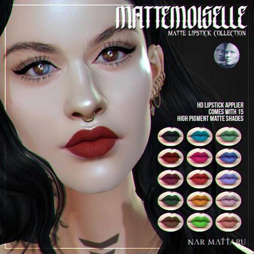 <Nar> Mattemoiselle Lipsticks // GENUS