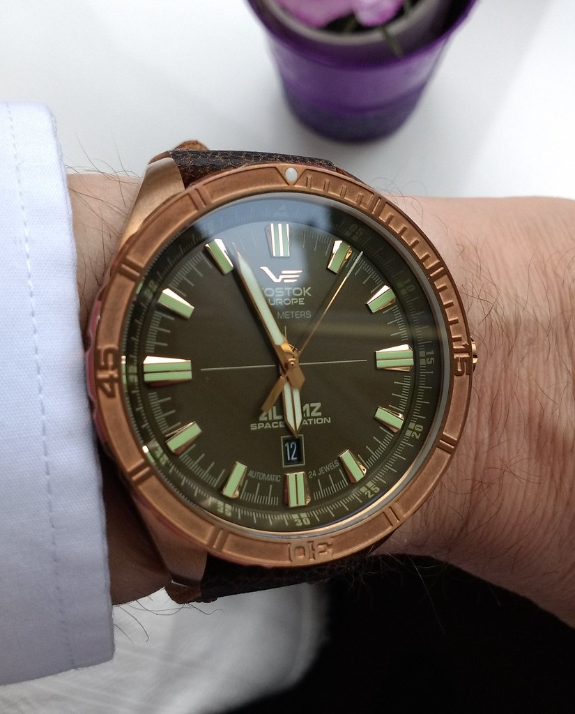Vostok Europe Almaz Bronze   (Cal NH35A)