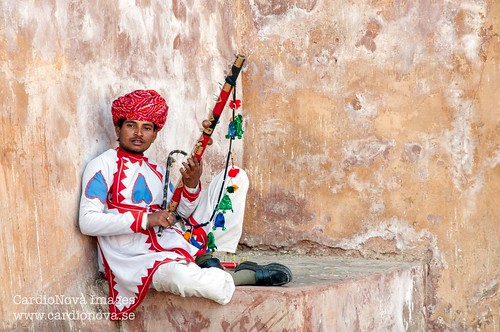 Rajasthani man at Amer Fort