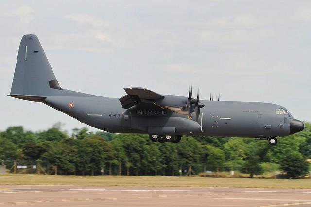 French AF C-130J Hercules arriving at RIAT 18.
