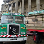 Vintage vehicles on the Flag Market at Preston