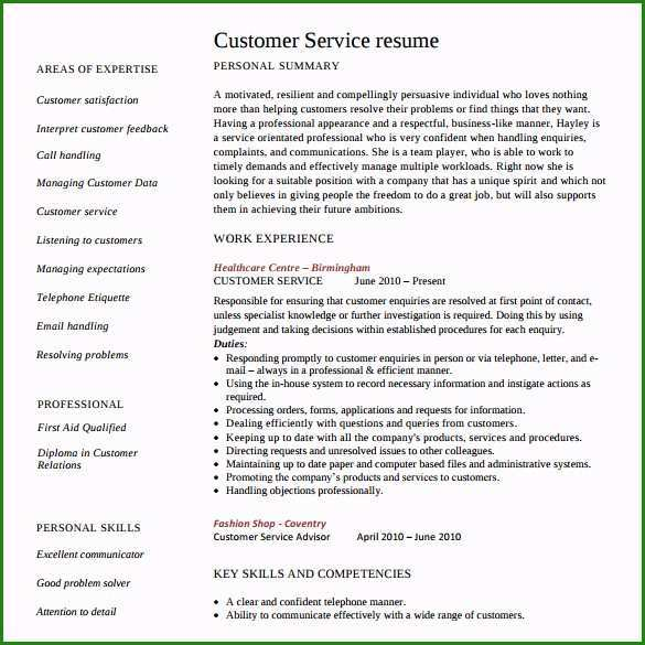 A Free Customer Service Resume Template And How To Use It Resume101 Org