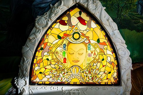 The window of Buddhism in the labyrinth in the #TemplesofHumankind