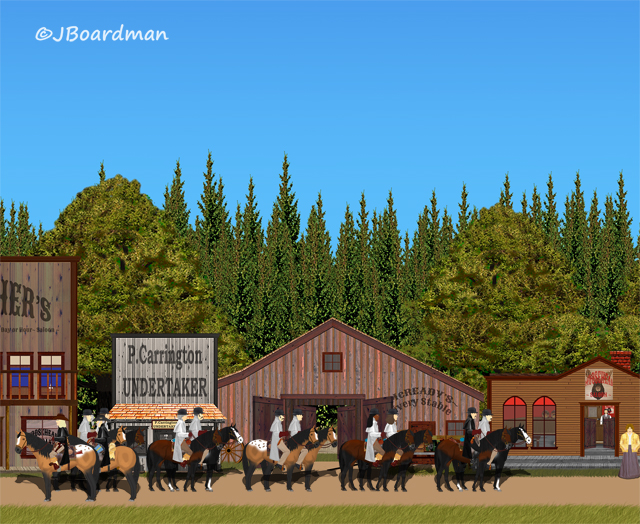 Carstairs and his gang arrived in Moosehead City ©Jack Boardman