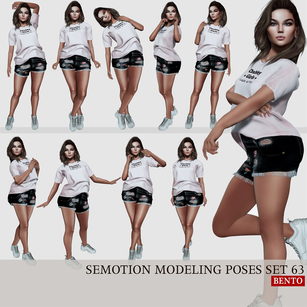 SEmotion Female Bento Modeling poses set 63