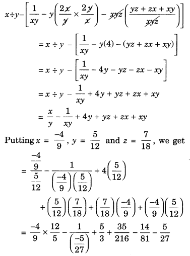 Rational Numbers Class 7 Extra Questions Maths Chapter 9 Q18.1
