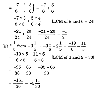 Rational Numbers Class 7 Extra Questions Maths Chapter 9 Q6.2