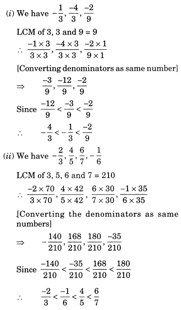 Rational Numbers Class 7 Extra Questions Maths Chapter 9 Q9.1
