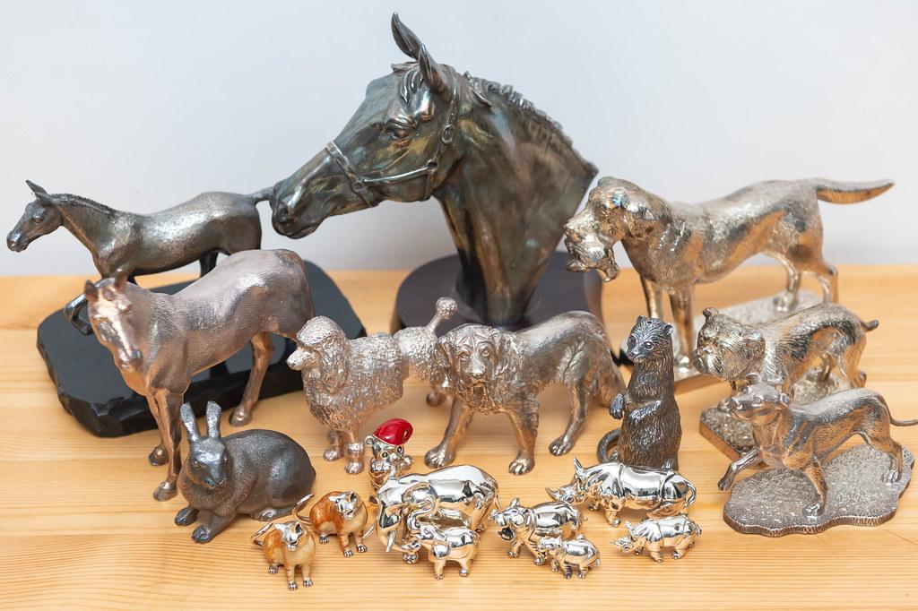 動物の金属置物 / Mappin&webb