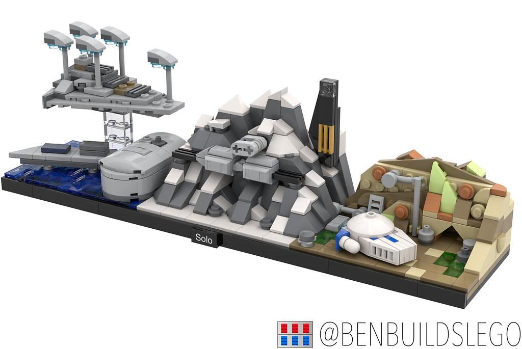 """Lego Star Wars – """"Solo"""" Skyline MOC (2) (custom built Lego model)"""