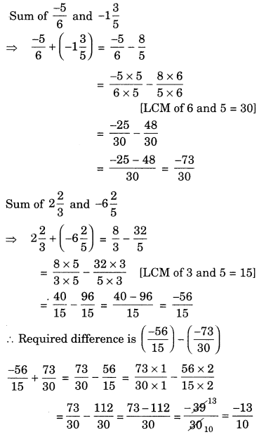 Rational Numbers Class 7 Extra Questions Maths Chapter 9 Q12