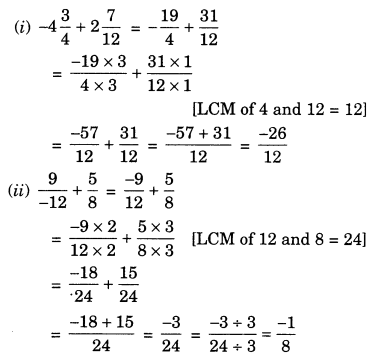 Rational Numbers Class 7 Extra Questions Maths Chapter 9 Q5.1