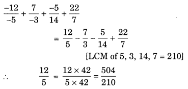 Rational Numbers Class 7 Extra Questions Maths Chapter 9 Q11.1