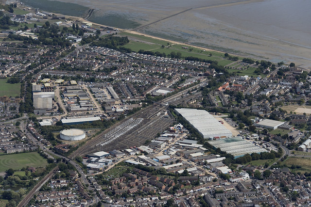 Shoeburyness railway sidings - Essex UK aerial image