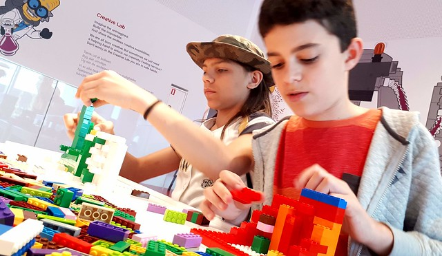 Janek and Eoin at Lego House