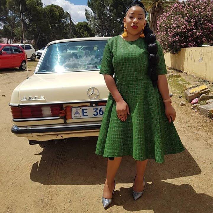 Green shweshwe dresses