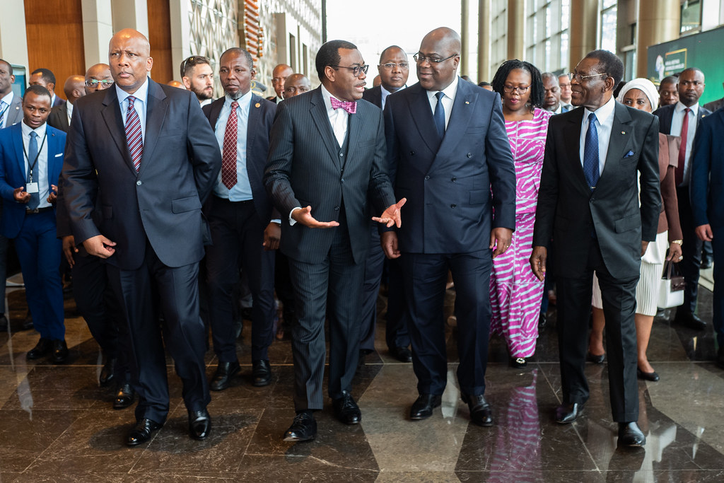 Malabo AfDB Annual Meetings Day 2 - Mr. Akinwumi Adesina, Mr. Félix Tshisekedi, King Letsie III and President Teodoro Obiang Nguema Mbasogo