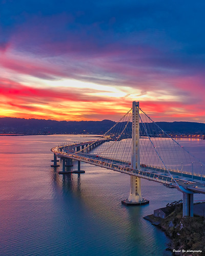 三藩市 sanfrancisco bay bridge eastern span sunrisecolors