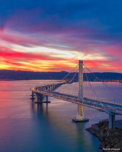 三藩市 sanfrancisco bay bridge eastern span sunrisecolors