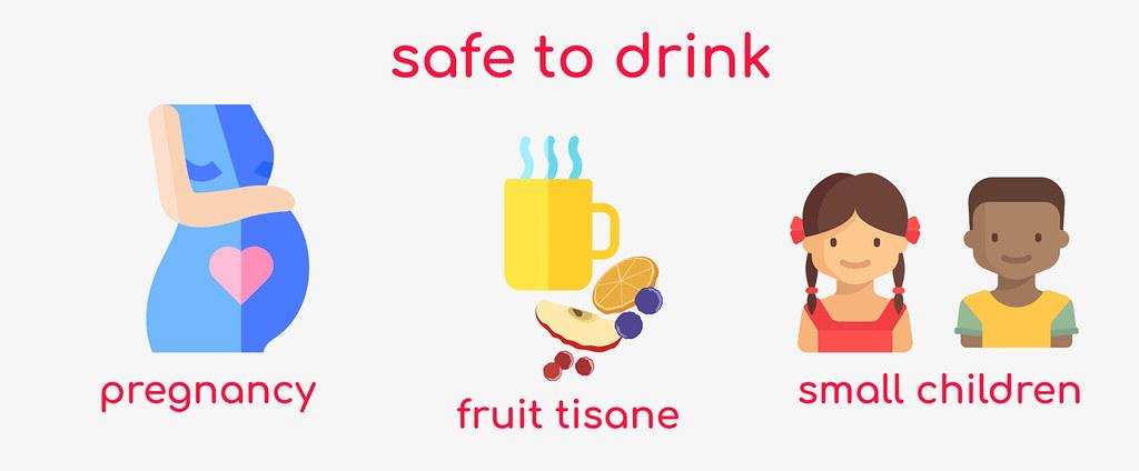 Fruit tisane safe to drink