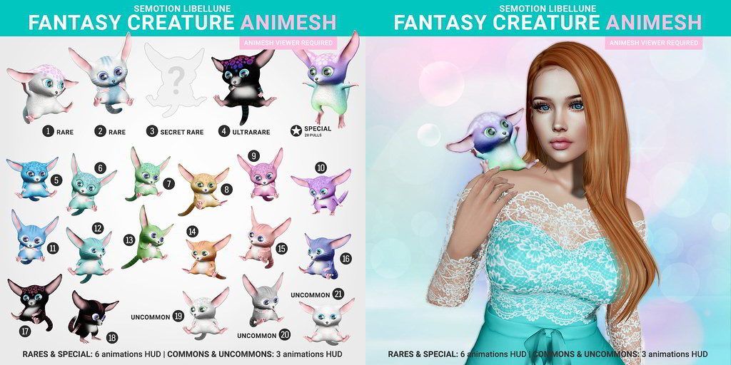 SEmotion Libellune Fantasy Creature Animesh
