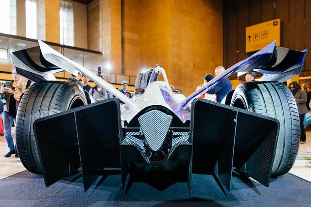 Auto Heckdiffusor Ansicht eines Gen2-Formel-E-Fahrzeugs