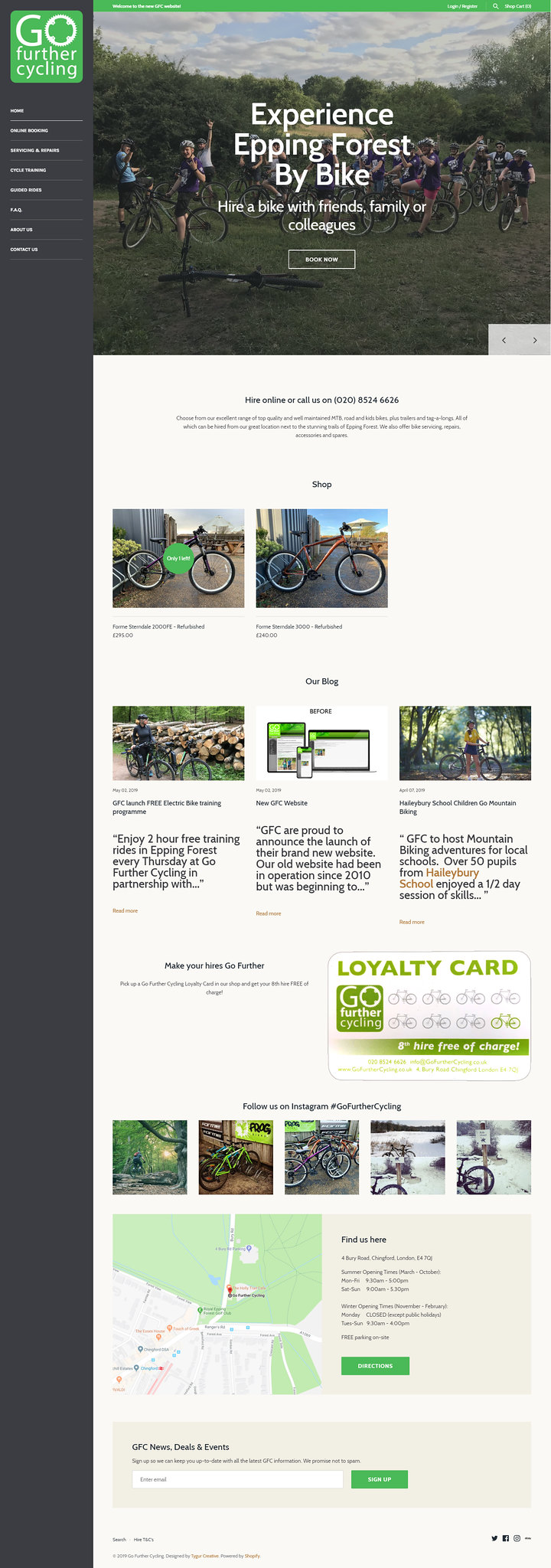 Go Further Cycling Website Complete