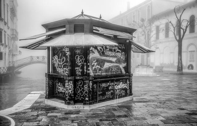 Graffiti in the fog