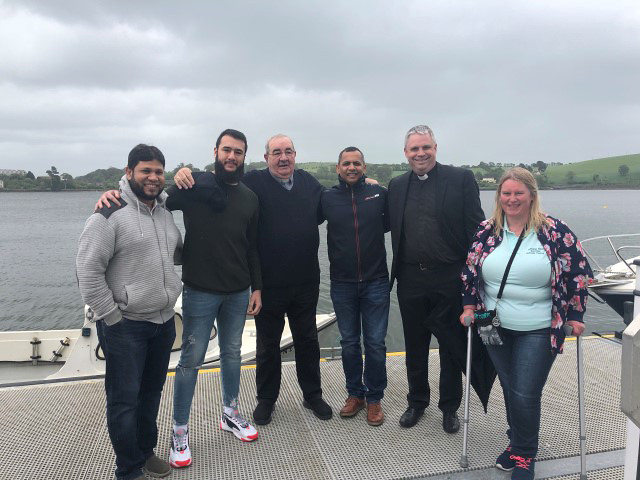 Left to right: Saher Mohamed and Kussai Dandachi (Cork Muslim Community), Father Con Cronin, St.Mary's Passage West, Imam Kashif Jamil (Cork Muslim Community), the Revd David Bowles (Church of Ireland) and Angela Murphy (organiser).