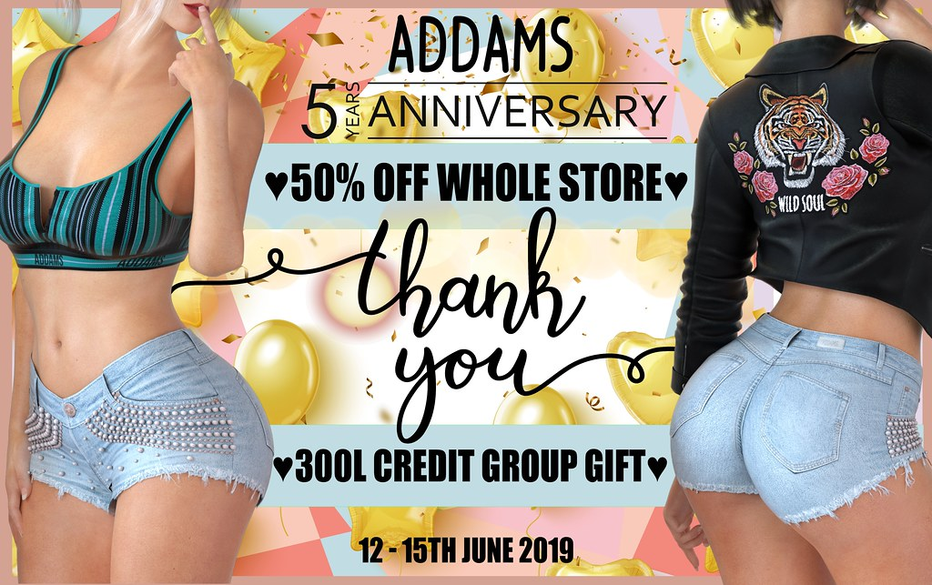 HAPPY 5 YEARS ADDAMS - CELEBRATION BEGINS TODAY!!!