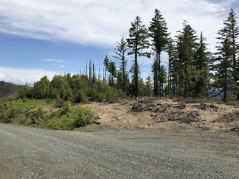Abandoned trail geocache adventure