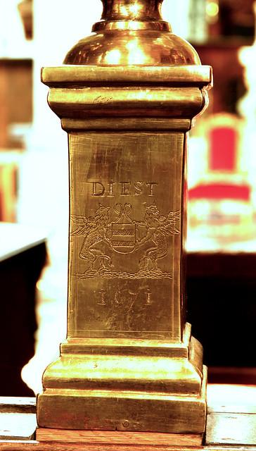 Diest, Vlaams-Brabant, St.-Sulpitiuskerk, museum, choir screen, baluster, 1671