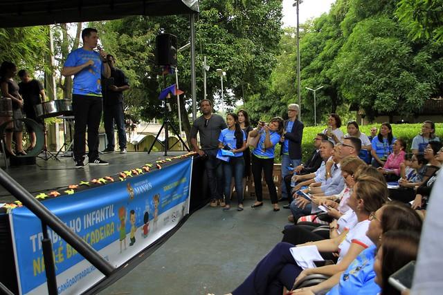 Parque cidade da criança 12.06.19.Ato público alusivo ao Dia Mundial contra o Trabalho Infantil