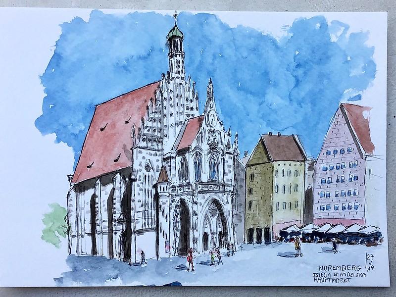 Nuremberg (Germany). Hauptmarkt