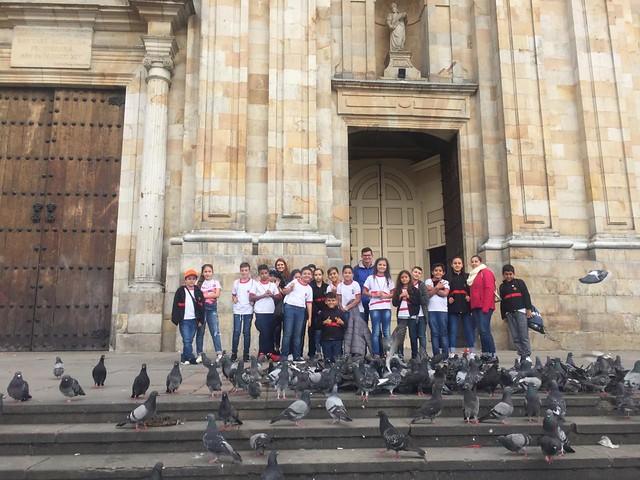 Estudiantes durante Expedición Bogotá - Boyacá