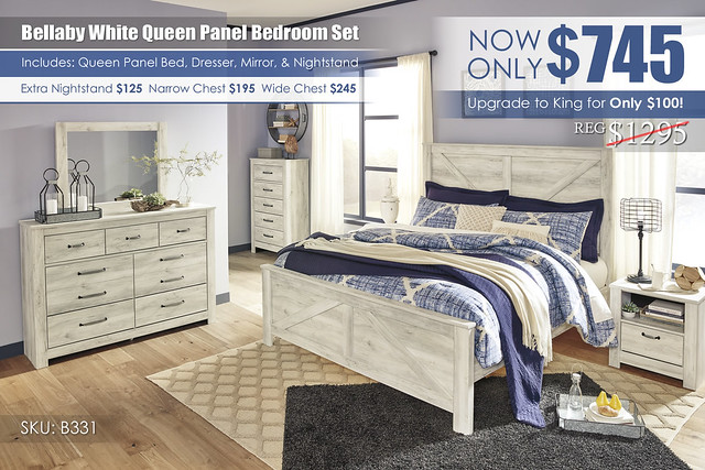 Bellaby White Panel Bedroom Set_B331-158-MOOD-A
