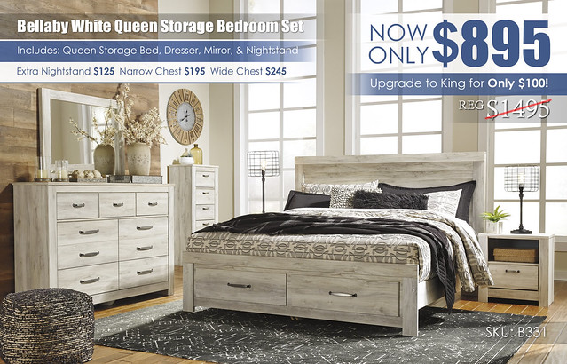 Bellaby Storage Bedroom Set_B331-31-36-11-58-56S-95-91-Q323