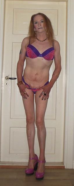 #posing #lingerie #striptease #tgirl #transvestite #feelingsexy #highheels #realscandinavianblonde