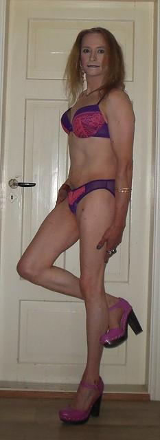 #smile #posing #blancinggamestrong #lingerie #bra #panties #highheels #smoothallover #tgirl