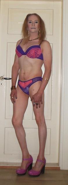 #smile #posing #lingerie #braandpanties #highheels #tgirl #transvestite #transisbeautiful