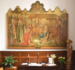 reredos: adoration of the magi