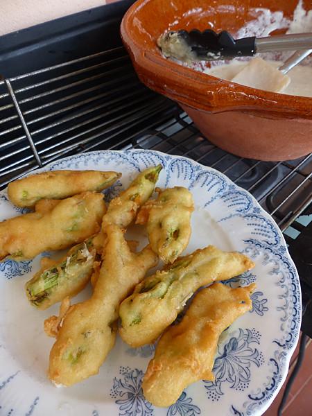 beignets de courgettes cuits