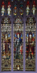 St George flanked by St Patrick and St Andrew (AL Moore, 1880s)
