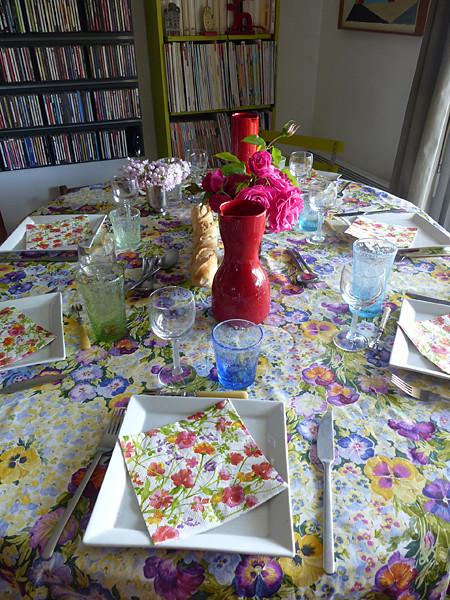 la table de la fête des mères